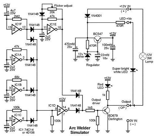 Принципиальная электросхема споттера