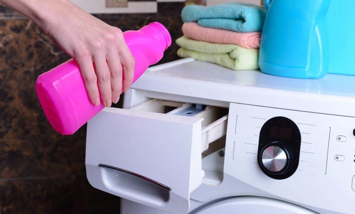 Заливка моющих средств в стиральную машину
