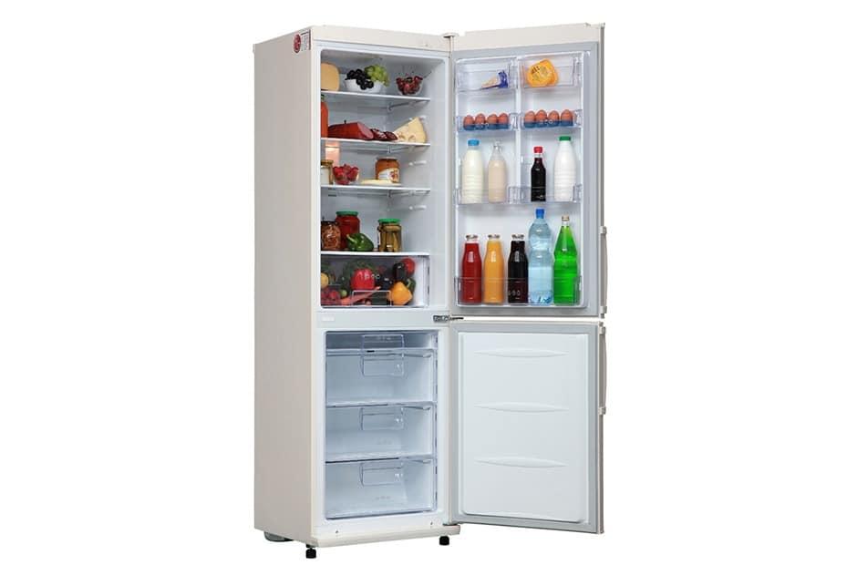 Холодильник LG GA B409UEQA в открытом виде