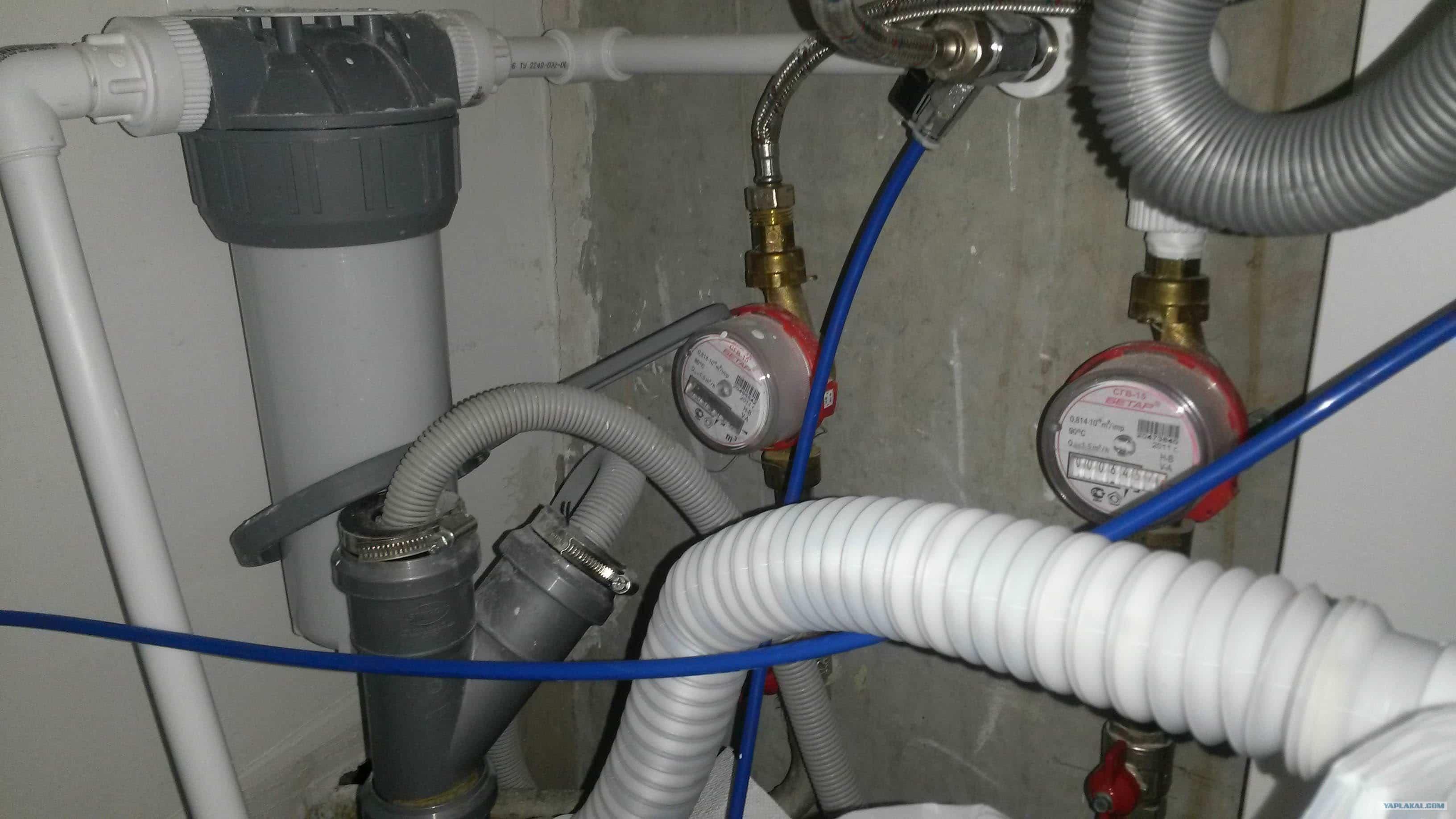 Система подключения и слива воды