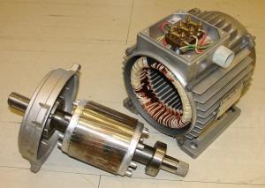 Основа ветрогенератора - старый мотор стиральной машины