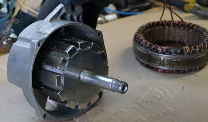 Укрепление ротора на статоре