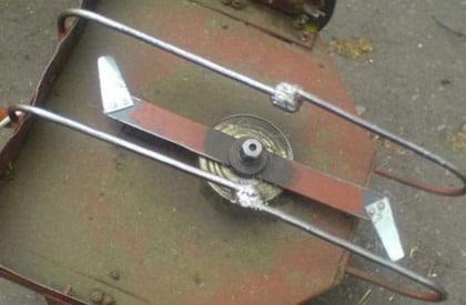 Самодельная газонокосилка со складными ножами