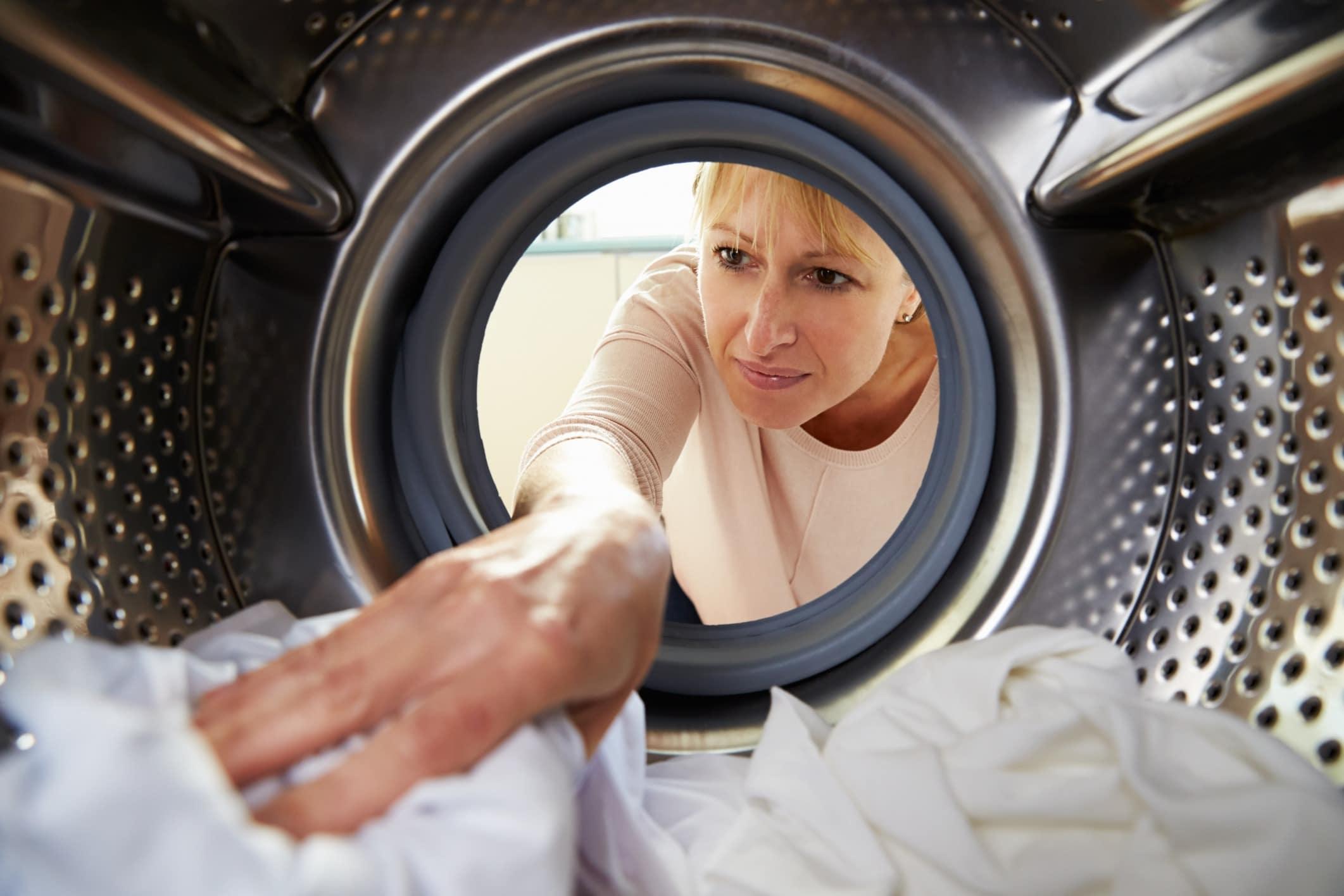 Проверка белья после стирки в СМА