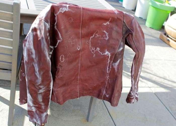 Негативный результат стирки кожаной куртки