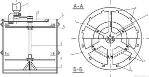 Схема строения радиальной медогонки