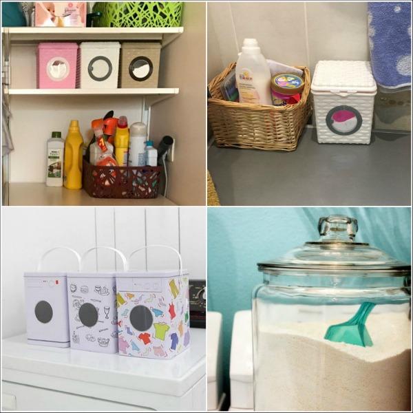 Хранение стиральных порошков в специальных емкостях