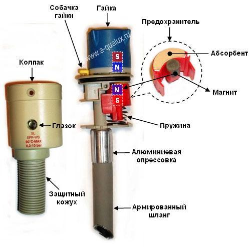 Схема устройства магнитной блокировки