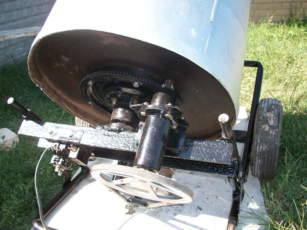 Самодельная бетономешалка из стиральной машины