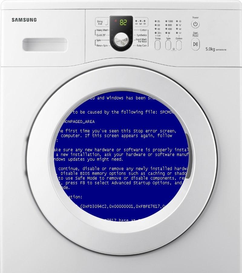 Ошибка стиральной машины автомат