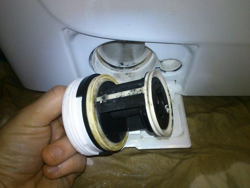 Демонтированный дренажный фильтр СМА
