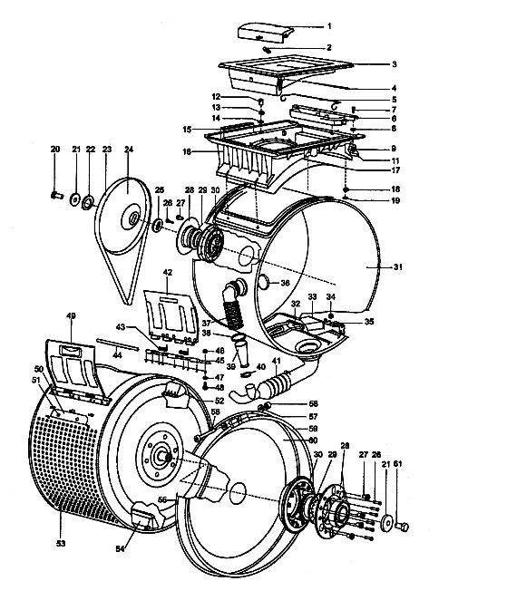 Схема устройства СМА с вертикальной загрузкой