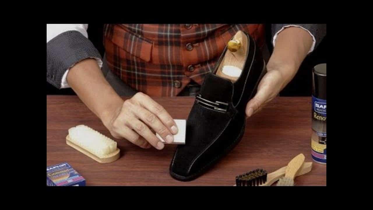 Правильная чистка замшевой обуви