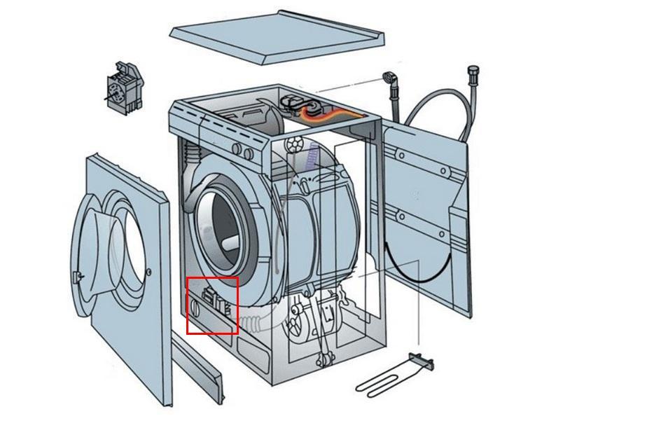 Устройство стирально-сушильной машины Samsung WD80K5410OS