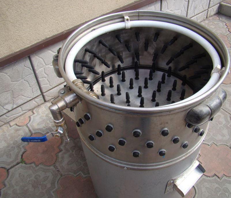 Самодельная перосъемная машина из стиралки