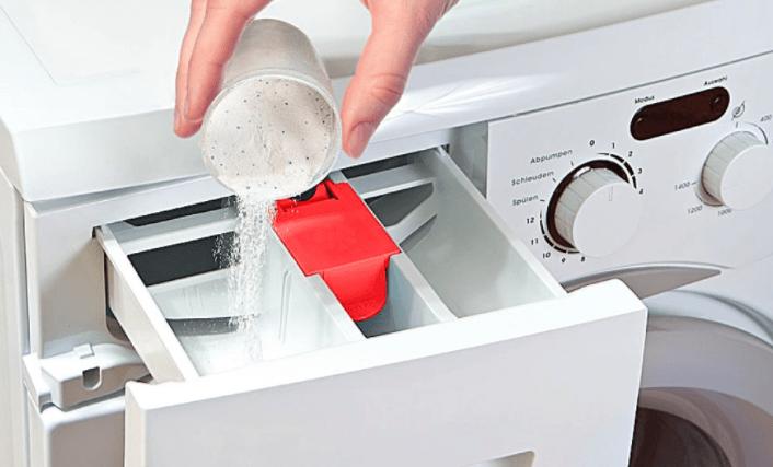 Дозировка отбеливателя в лоток для моющих средств СМА