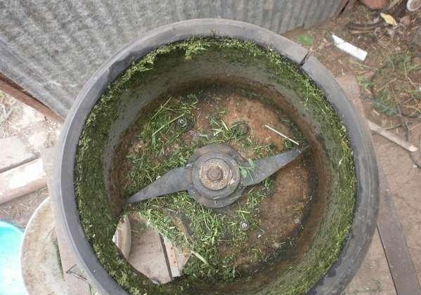 Измельчитель для травы из СМА