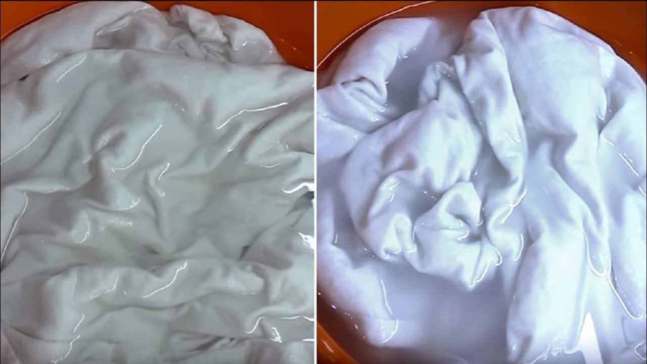 Замачивание белого белья перед стиркой