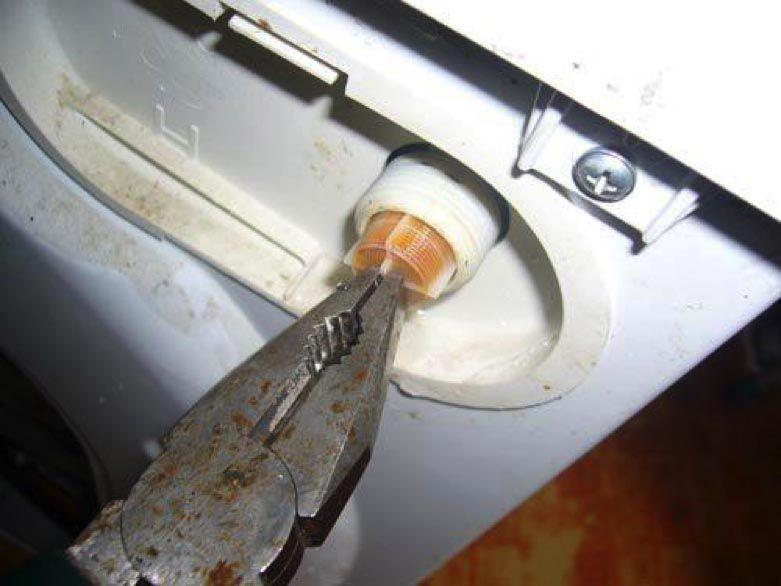 Демонтаж фильтра-сеточки