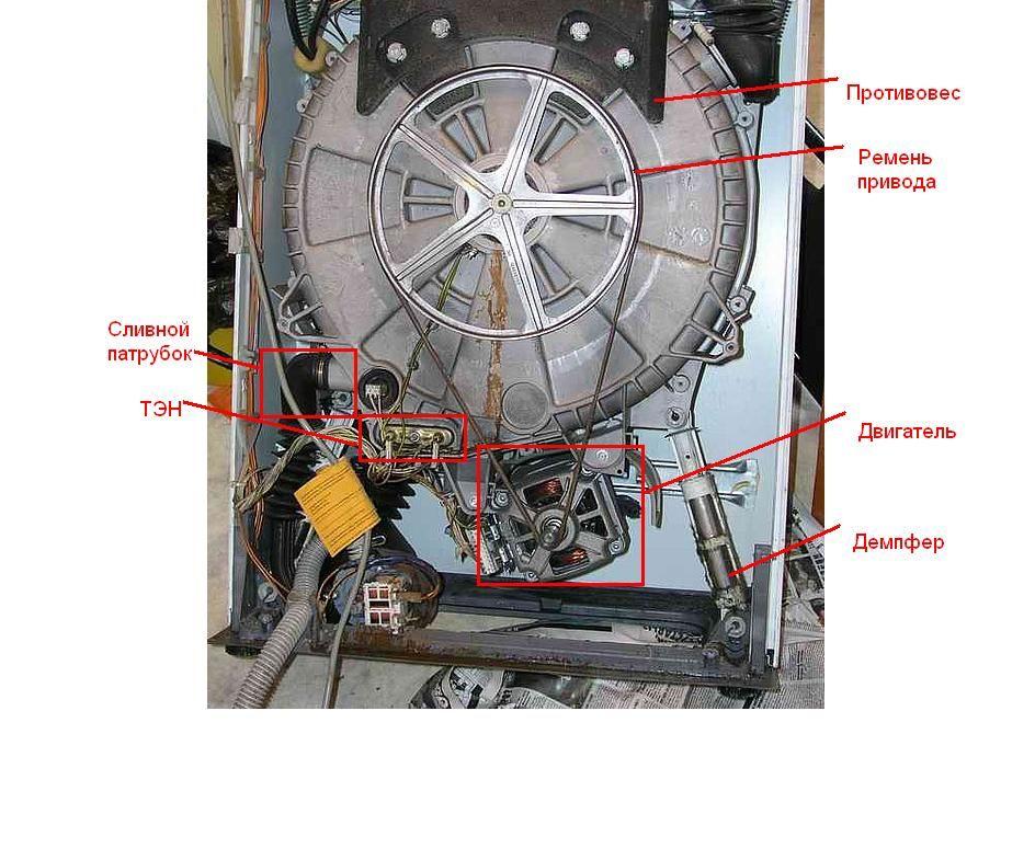 Внутреннее устройство стиральной машины-автомат