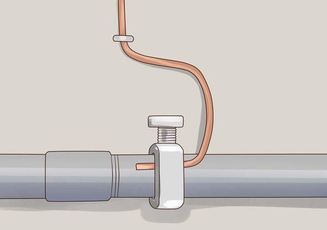 Схема заземления через трубы отопления