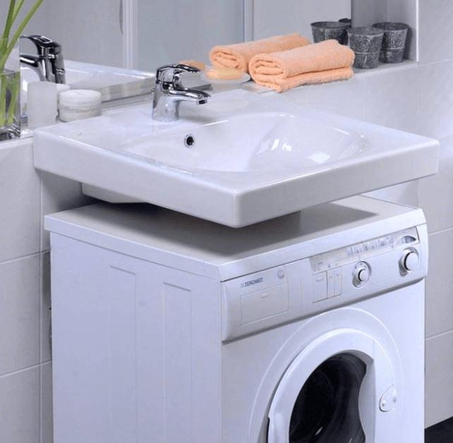 Компактная стиральная машина под рукомойником