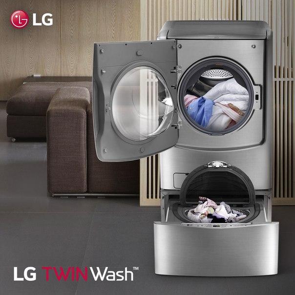 СМА работающая по системе TWIN Wash