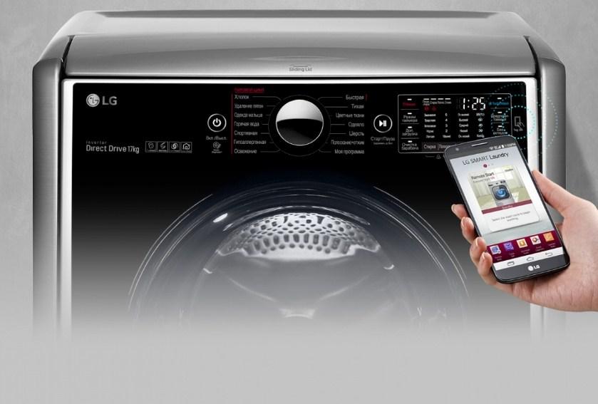 Панель управления и управление СМА LG TW7000WS/TW350W со смартфона