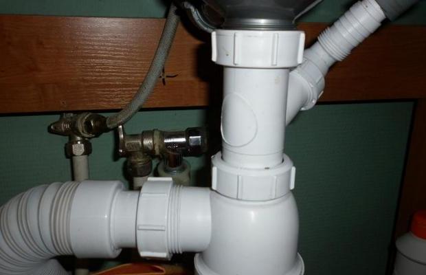 Подключения налива и слива воды с СМА