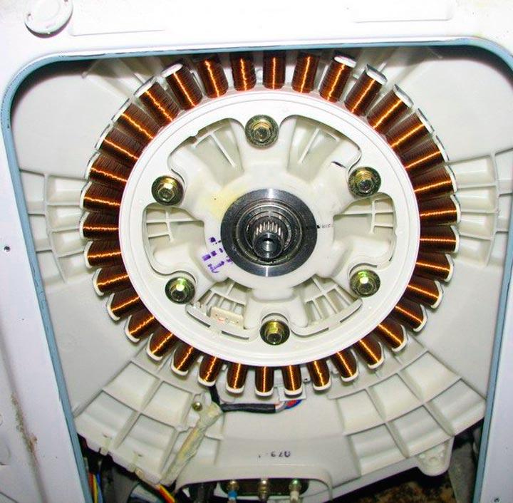Обмотки инвенторного двигателя СМА LG