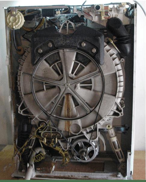 Место установки приводного ремня СМА