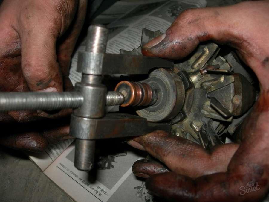 Извлечение подшипника двигателя СМА