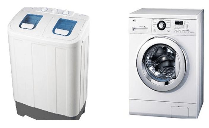 Полуавтоматическая и автоматическая стиральная машины