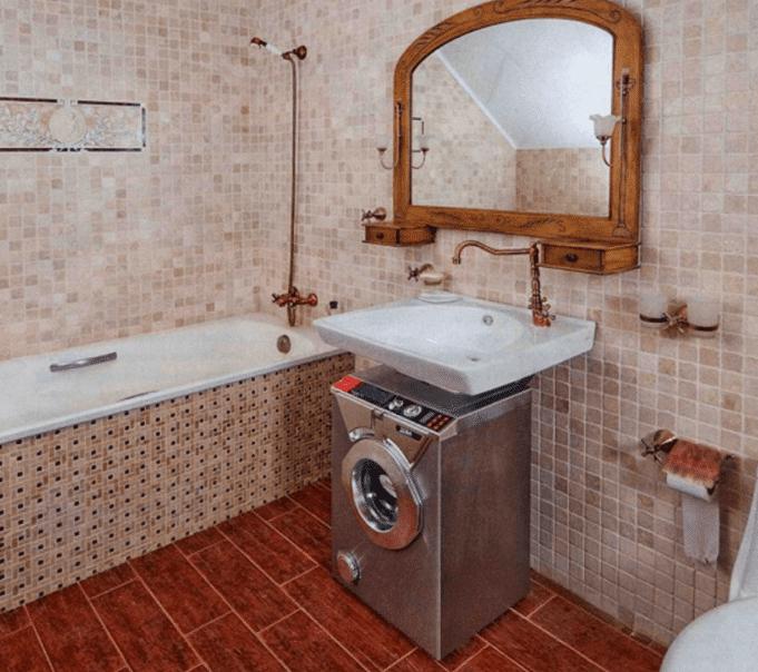 Компактная СМА экономит место в ванной