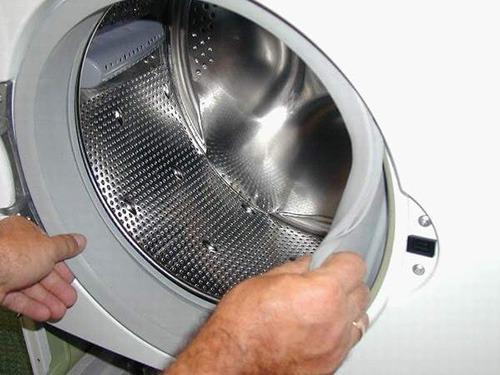 Снятие резинового уплотнения люка СМА LG