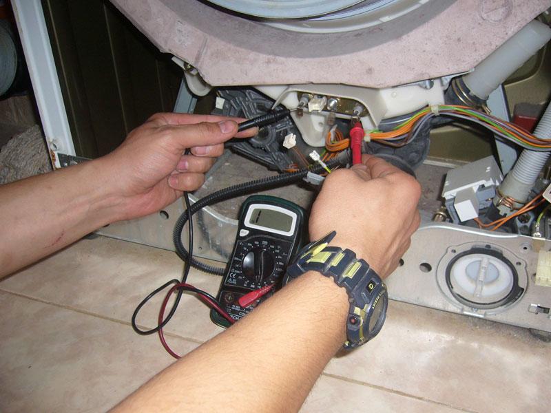 Тестирование ТЭНа стиральной машины мультиметром