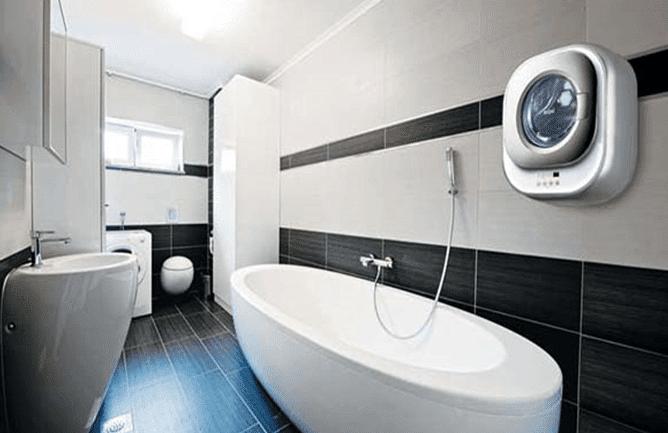 Настенная СМА в интерьере ванной