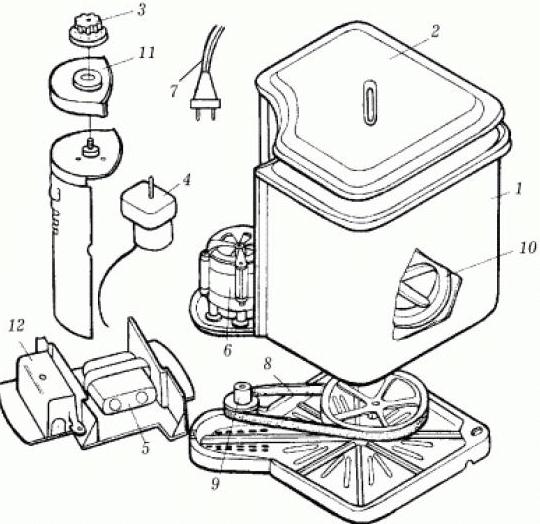 Схема о порядок разборки СМ-2