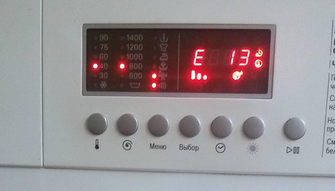 Индикация ошибки стиральной машинки Нефф
