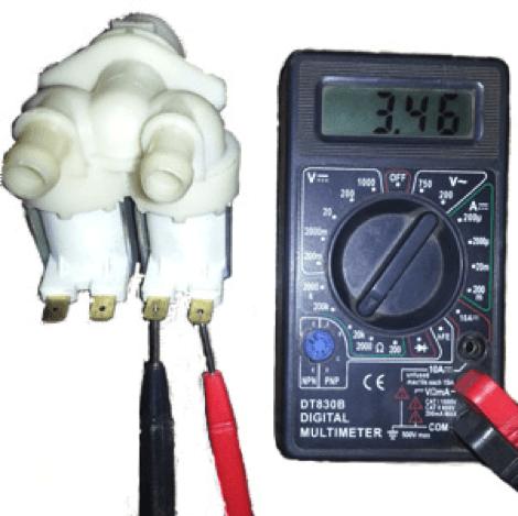 Тестирование клапана мультиметром