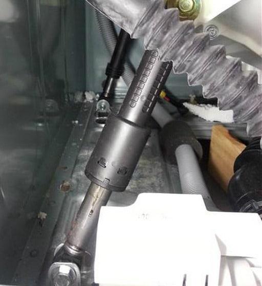 Амортизатор и пружинный демпфер внутри СМА