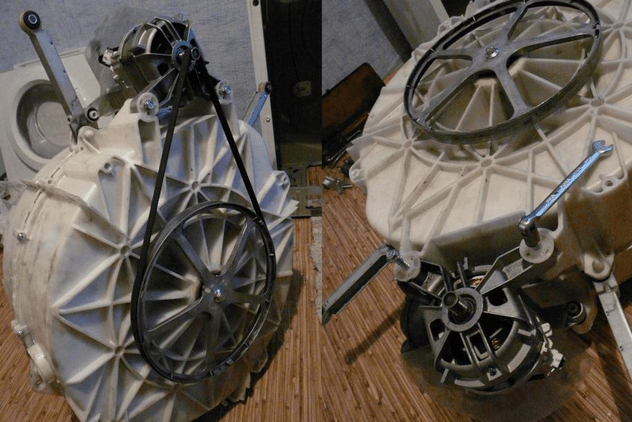 Демонтаж двигателя СМА