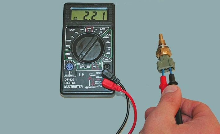 Проверка термодатчика мультиметром