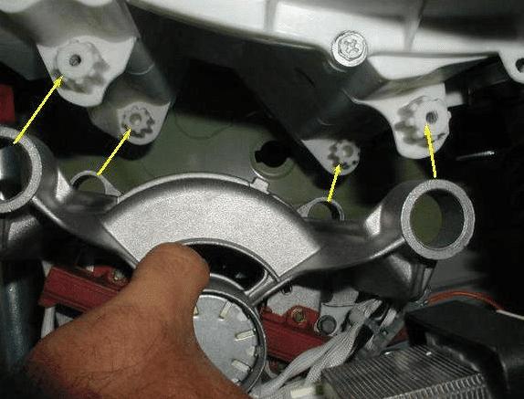 Места крепления лапок двигателя СМА
