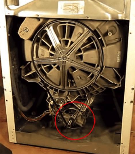 Обычное местоположение двигателя СМА