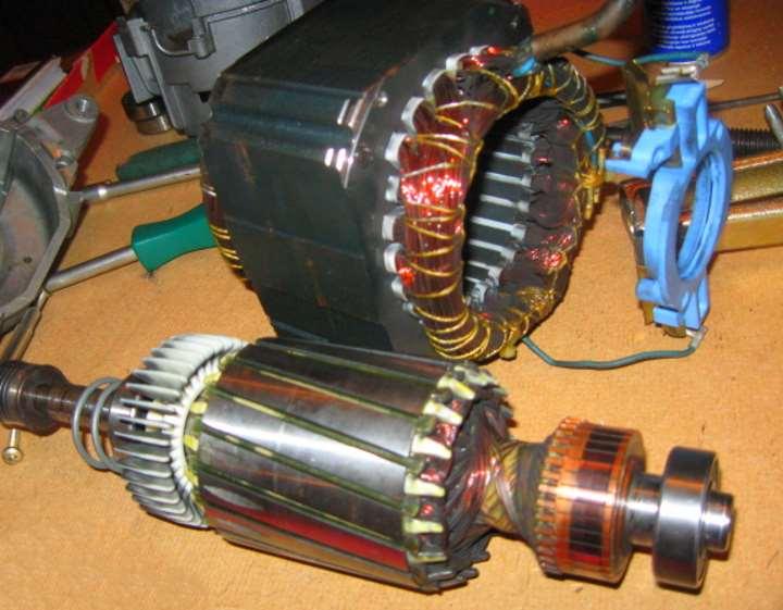 Ротор и статор двигателя СМА