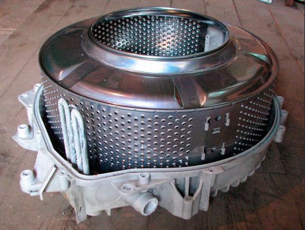 Демонтированный барабан СМА