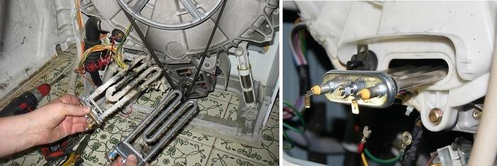 Схема замены ТЭНа стиральной машины