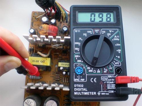 Тестирование платы управления мультиметром