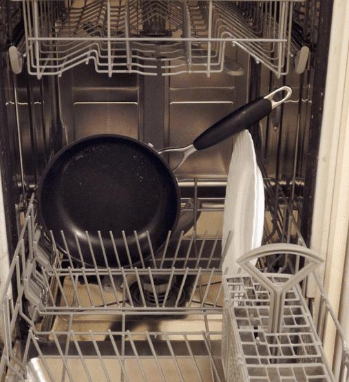 Установка крупной посуды в ПММ